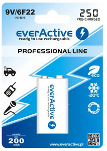 Akumulator 9,0V everActive